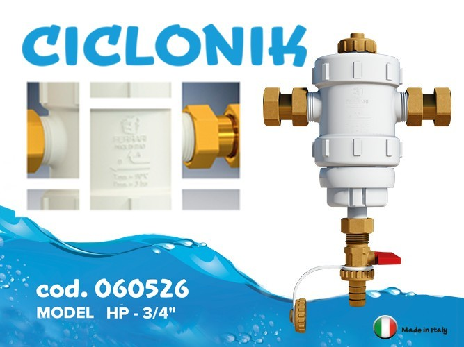 CICLONIK under-boiler magnetic dirt separator